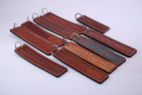 Hair on Hide, Stamped Key Rings