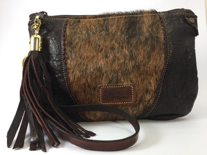 Take Me Everywhere Clutch - Chocolate Brindle