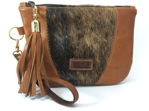 Take Me Everywhere Clutch - Brindle Tan