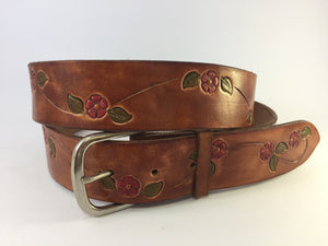 Daisy Chain Boho Solid Leather Belts