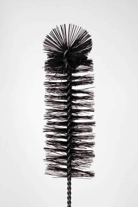 16 in. Nylon tube black brush