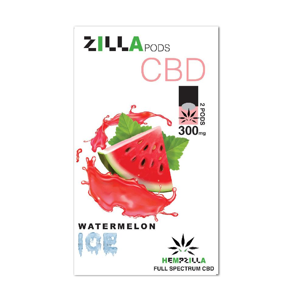 Hempzilla CBD Pods Watermelon Ice 2 Pods/Pack 1Pack