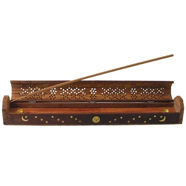 Wild Berry� Incense Burner - Fancy Carved Coffin