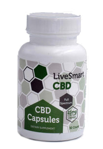 LiveSmart Hemp Oil Full-Spectrum Capsules 25mg