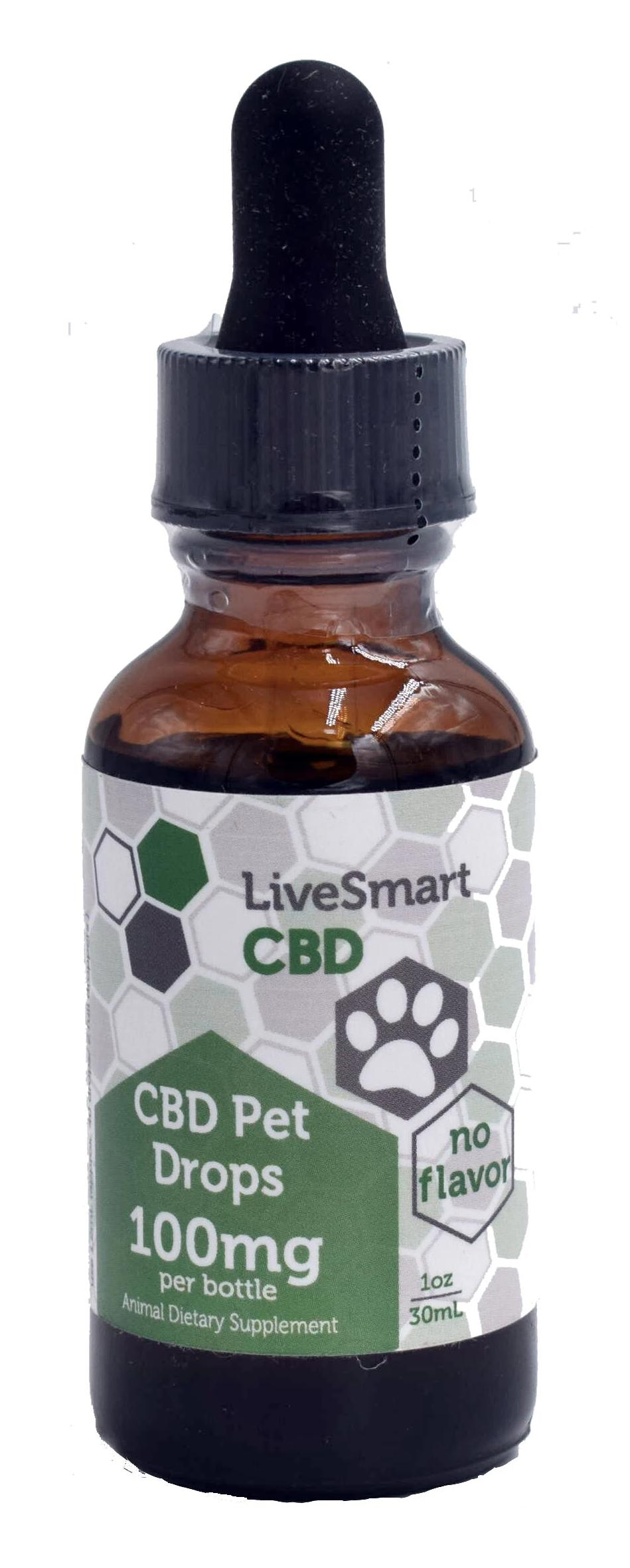 LiveSmart Hemp Oil Full-Spectrum Pet Drops 100mg (30mL)
