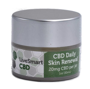 LiveSmart Hemp Oil Daily Skin Renewal Cream with Pure Hemp Extract (20mg)