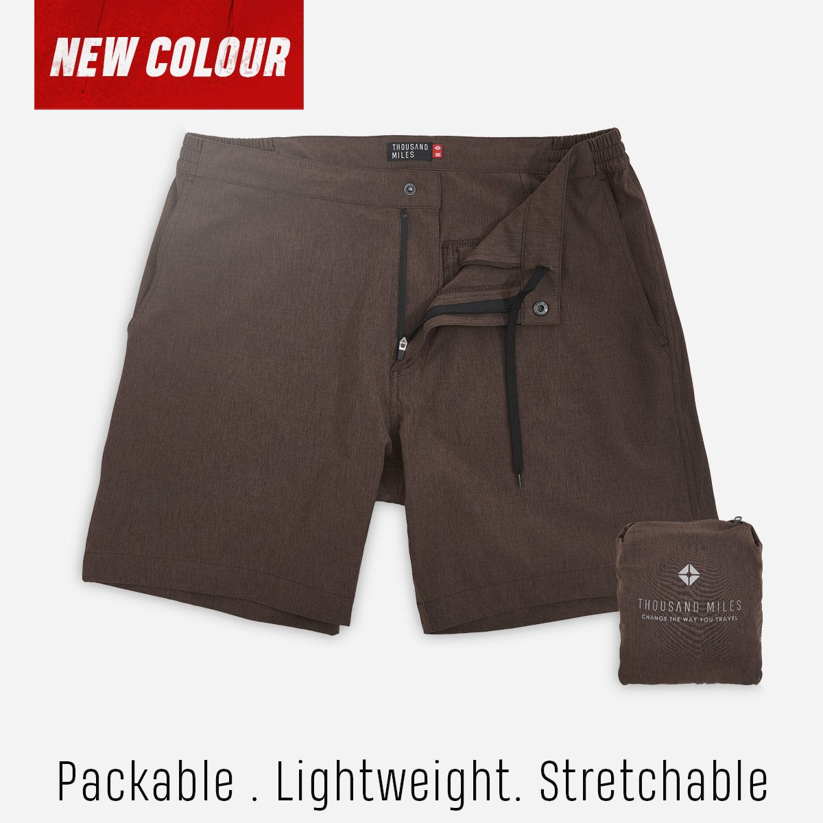 All Day Shorts (Omniflex™) - Brown