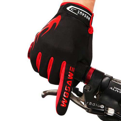 WOSAWE Autumn And Winter Riding Fleece Gloves Bicycle Touch Screen Full Finger Gloves