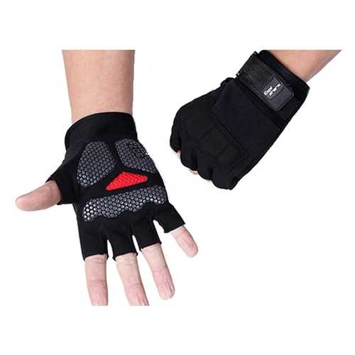 Mens Breathable Tactical Half Finger Gloves Military Fitness Gloves Slip Resistant Mittens