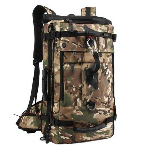KAKA 40L Multifunctional Men Mountaineering Oxford Backpack Casual Travel Crossbody Bag