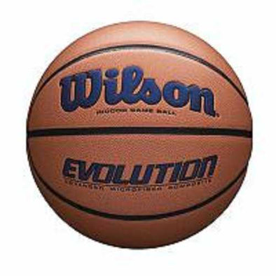 Wilson Evolution Official Size Game Basketball-Navy