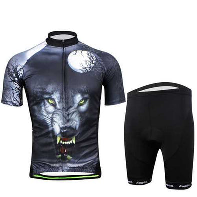 Personalized Pattern Men Short Sleeve Breathable Jerseys and Shorts Bike Wear Aogda Bicycle Kit