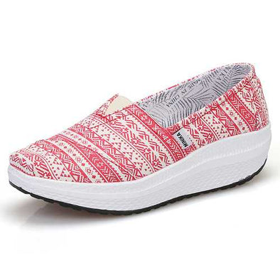 Women Canvas Breathable Sport Outdoor Flat Casual Shoes