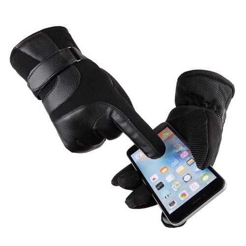 Winter Warm Unisex Touch-Screen Thermal Lined Full-finger Gloves For Smart Phones Tablets