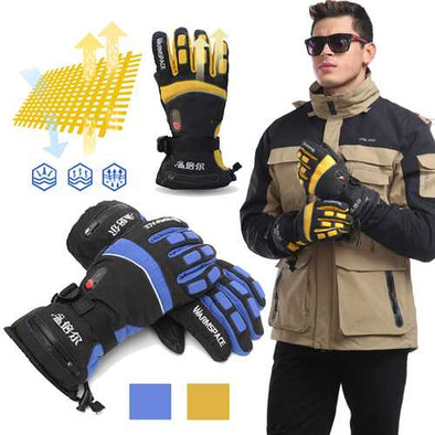 7.4V M/XL Winter Warm Rechargeable Electric Heated Gloves Women Men Waterproof Warmer Gloves