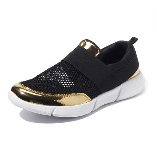 Hollow Out Breathable Slip On Casual Shoes