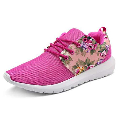 Women Sneakers Breathable Print Flower Casual Shoes