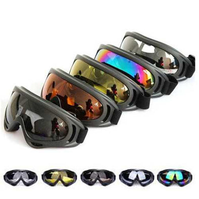 X400 UV Tactical Bike Goggles Ski Skiing Skating Glasses Sunglasses
