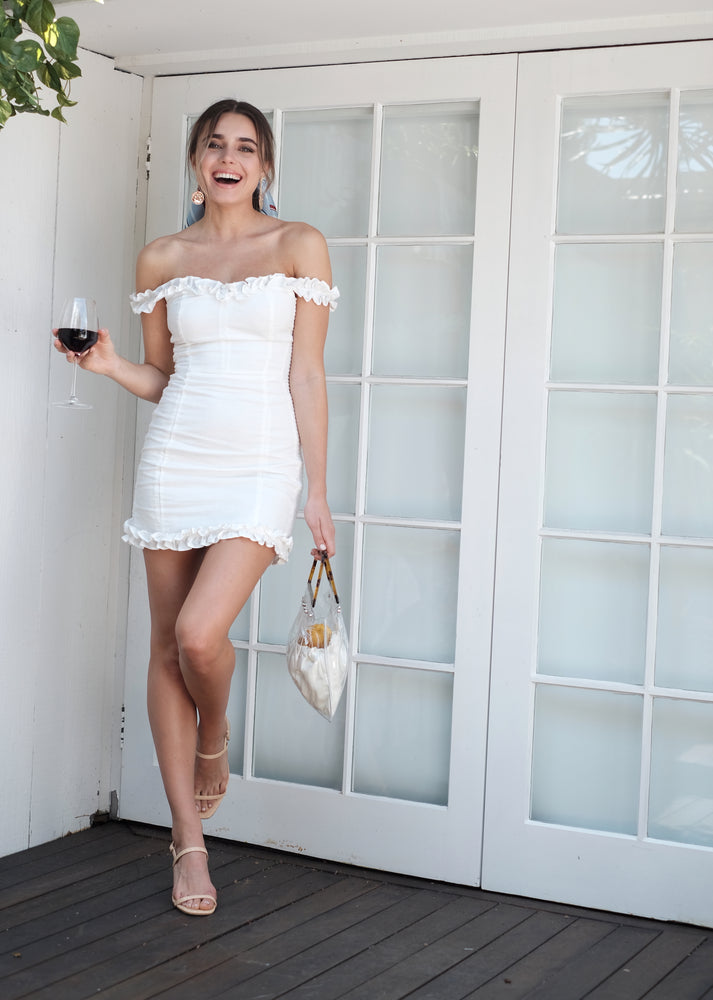 Poppy Dress - White - SAINT DELILAH
