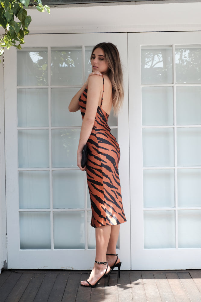 Dahlia Dress - Tiger - SAINT DELILAH