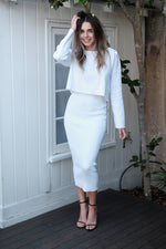 Emma Two Piece Set - White