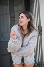 Elita Cardigan - Grey - SAINT DELILAH