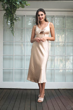 Delphine Dress - Gold