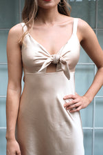 Delphine Dress - Gold - SAINT DELILAH