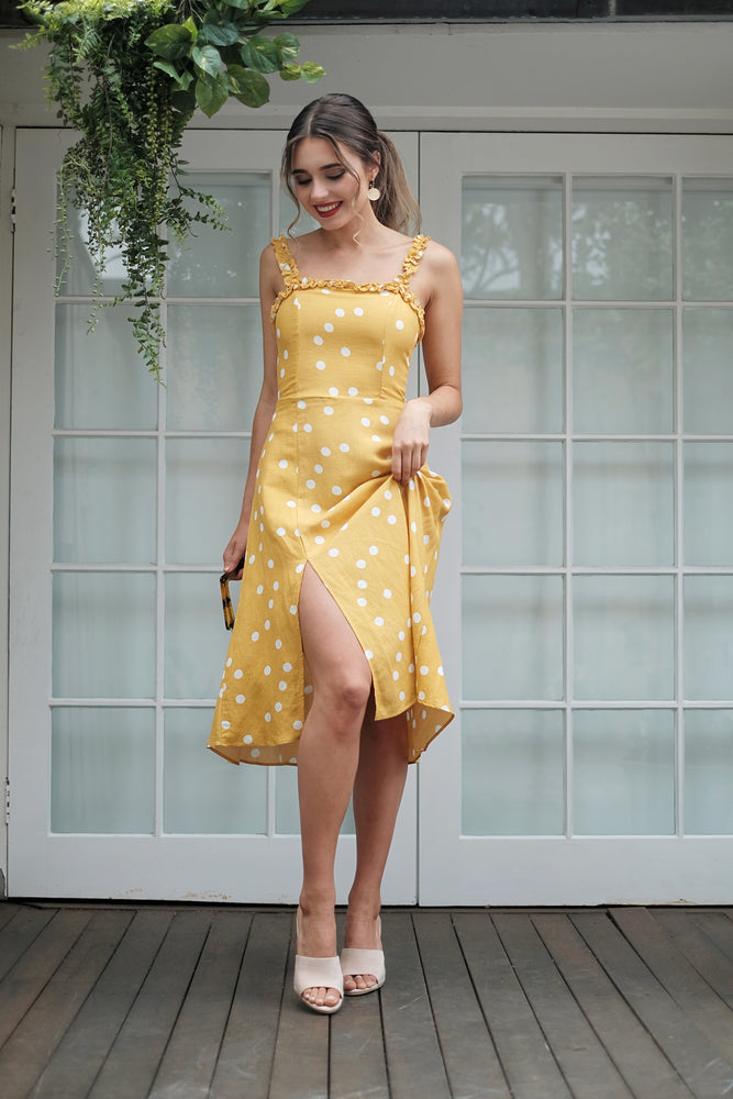 Apolline Dress - Mustard - SAINT DELILAH