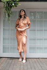 Myriam Dress - Peach - SAINT DELILAH