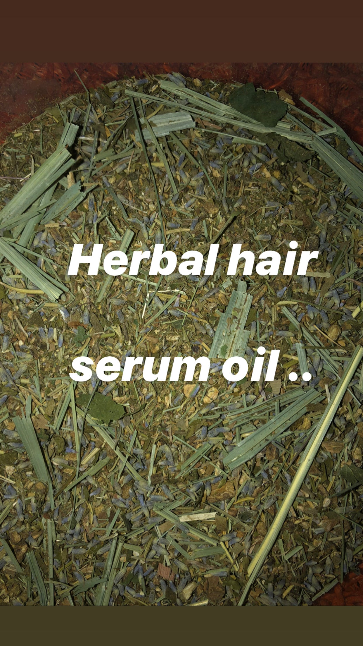 Herbal HAIR SERUM  4 oz bottle  GLASS ( EXTREME GROWTH OIL )