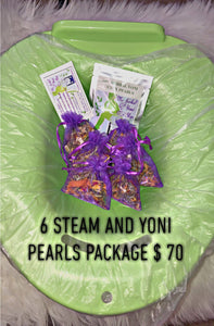 6 herbal yoni steam + steam seat + yoni pearl