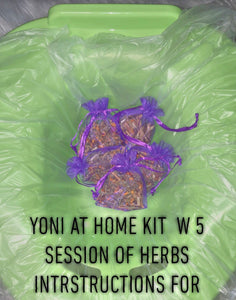 Yoni AT HOME STEAM  SET WITH 5 session of herbs