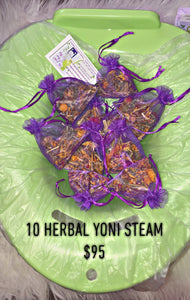 10 herbal yoni steam + steam seat