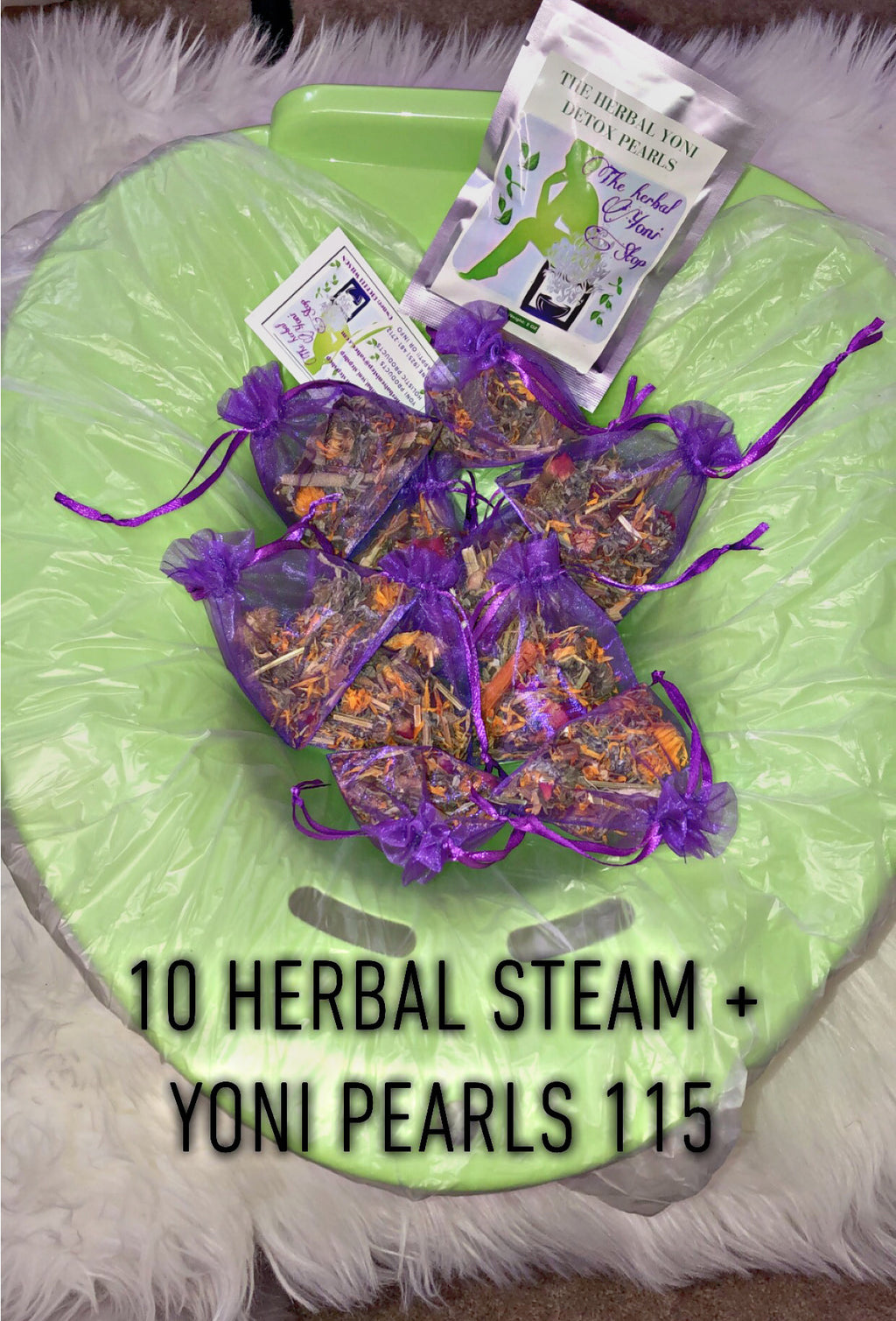 10 herbal yoni steam + steam seat + herbs