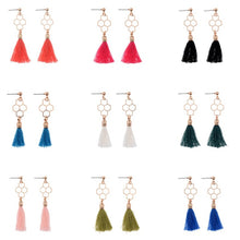 Load image into Gallery viewer, Hollow Honeycomb Tassel Drop Earring
