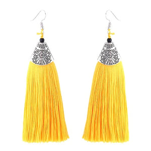 Boho Dangle Drop Tassel Earrings