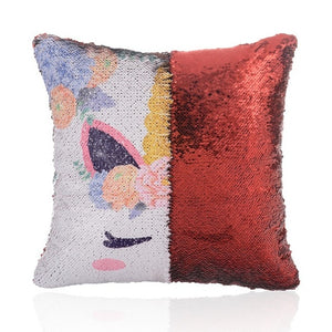 Magical Unicorn Sequin Pillow Case With Reversible Color