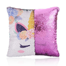 Load image into Gallery viewer, Magical Unicorn Sequin Pillow Case With Reversible Color
