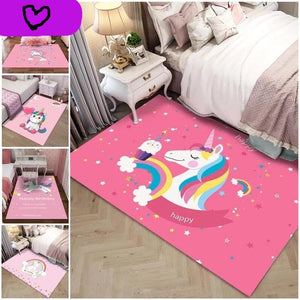Floor Mat Bedroom Decor Anti-slip Unicorn Design Rug - UnicornFeathers