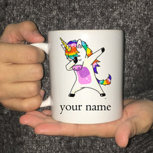 Load image into Gallery viewer, Personalised Coffee Mug Custom Printed Unicorn Drinking Mugs Cup Perfect Gift - UnicornFeathers