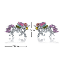 Load image into Gallery viewer, Unicorn Necklace Earrings Bracelet  Ring 5 piece Set Gift Jewelry