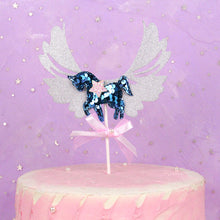 Load image into Gallery viewer, Glitter Unicorn Cake Topper Cupcake Decoration Birthday Party Cake - UnicornFeathers