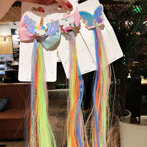 Unicorn Colorful Rainbow Hairpins Butterfly Hair Accessories