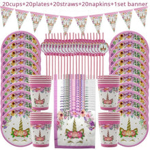 Load image into Gallery viewer, 81pcs Unicorn Party Supplies for 20 guests  Birthday Decorations - UnicornFeathers