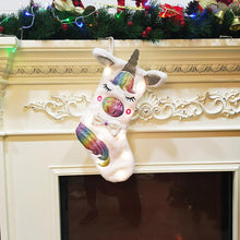 Load image into Gallery viewer, Unicorn Christmas Stocking  LED Light  Tree Decoration Candy Socks