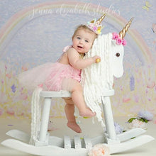 Load image into Gallery viewer, 10PC Unicorn Headbands Felt Unicorn Horn Crown flowers Single color or mixed