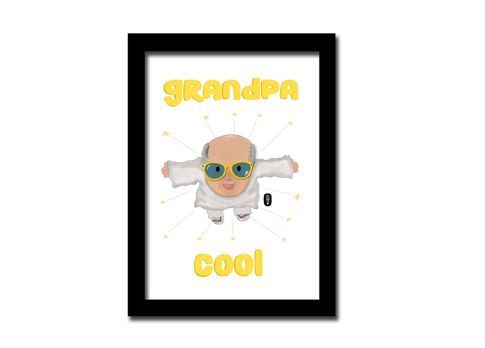 Grandpa Cool | A5 size Frame | For desk and Wall