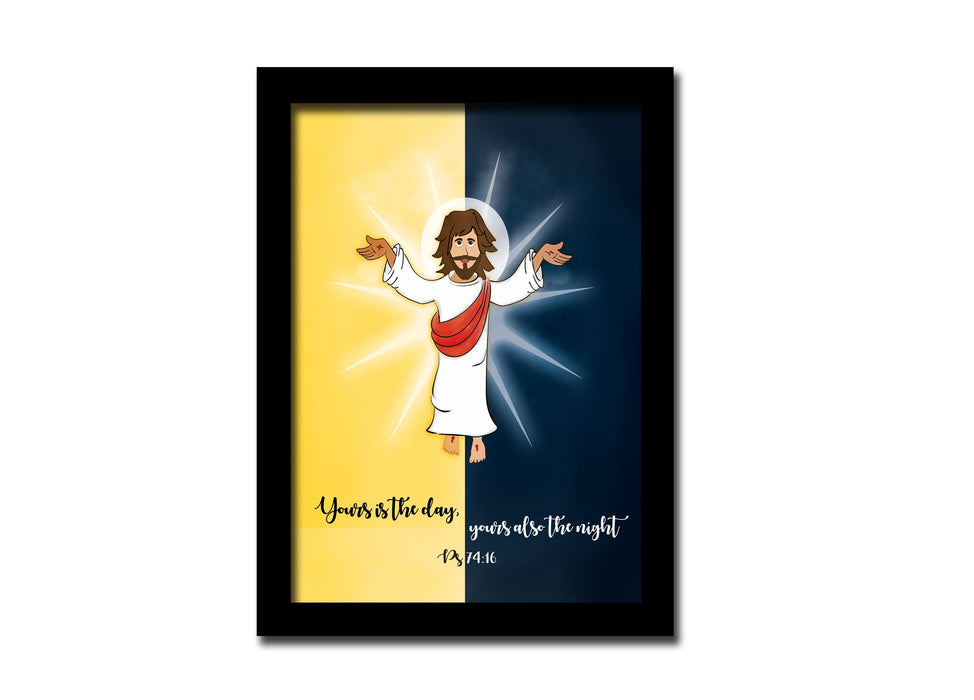 Yours is the day | A5 size frame | Jesus | Bible Art