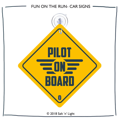 Pilot on Board Car Sign